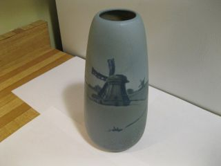 Weller Arts Crafts Dresden Pottery Vase Beauty Signed by Levi Burgess