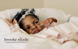 Reborn AA A A African American Black Biracial by Brooke Nicole