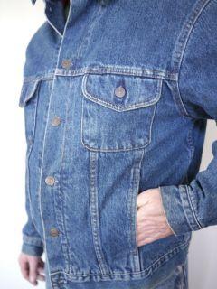 Vintage Classic 1980s Gap Buffalo Plaid Flannel Denim Jean Jacket Mens