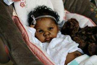 Baby Girl Biracial African American Black by Brooke Nicole