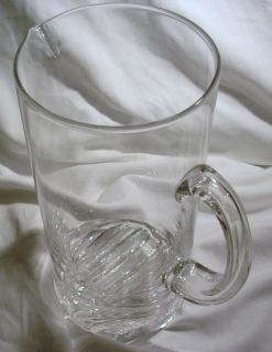 Pitcher IITTALA OF FINLAND Finnish Art Glass DANISH MODERN