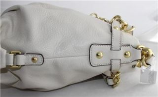 Coach Brooke White Leather Brass Bag $358 17165 Shoulder Convertable