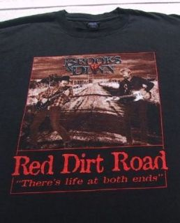 Brooks Dunn Red Dirt Road Large T Shirt Vintage Vtg