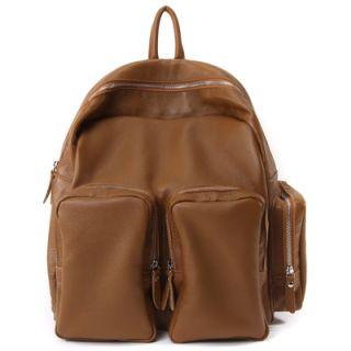 Made in Korea Mens Womens Genuine Leather B612 Backpack Bookbag