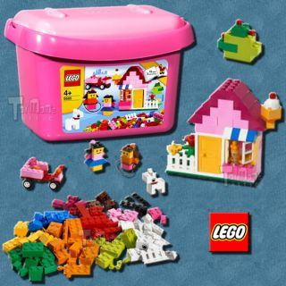 lego building system pink brick box 5585