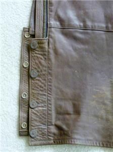 Harley Davidson Chaps Leather Brown Vintage Shovelhead Medium Long