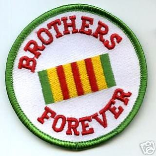 Vietnam Veteran Service Ribbon Brothers Forever Patch