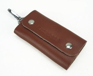 new fashion leather key bags case Rings KeyChain BROWN with key ring