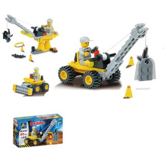 Lot of 8 New Building Blocks Yellow Construction Car Series Toy Child