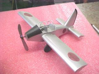 RARE 1 Earth Metal Folk Art Vietnam Veteran Metal Warplane War Plane