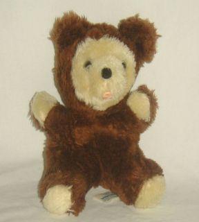 Vintage Knickerbocker Plush Bean Bag Animals Brown Bear