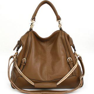 Genuine Leather Jesse Satchel Tote Bag Long Strap