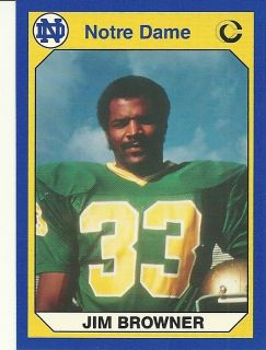 Jim Browner 1990 Collegiate Collection Notre Dame Fighting Irish 38