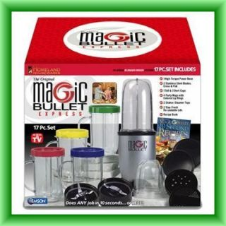 magic Bullet Express Blender and Mixer System 17 Piece New Free SHIP