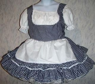 to fit,Adult Sissy,Unisex,Navy Gingham Beer Maid Dress, Sunny Creation