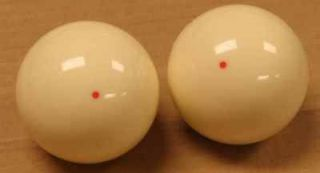 operated pool table red dot cue balls   qty of 2 for 1 price Aramith