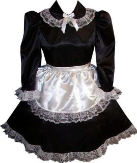 Custom Fit 2pc French Maid Adult Baby Sissy Dress & Apron LEANNE