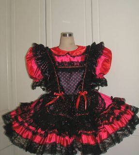 bbt adult sissy gothic maid dress from hong kong time