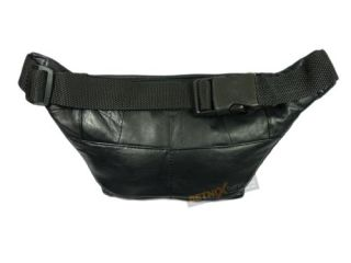 Leather Waist Bag Bum Bag Travel Pouch Pack Black Brown