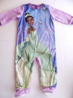 nwt disney princess frog tiana pajamas girls 12 18 mos