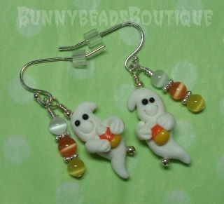 Boutique Halloween Ghost Candy Corn Earring Dillydally