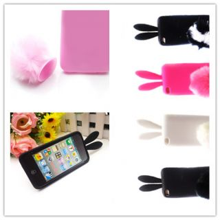 Selectable Bunny Rabbit Soft Skin Case Cover for Apple iPod Touch 4G