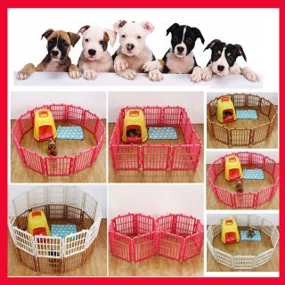 1x Plastic Pet Pen Dog Cat Rabbit Kennel Fence Cage Easy Assembly