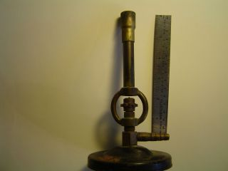 Vintage Brass Cast Iron Bunsen Burner