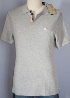 Burberry Brit Pale Grey Melange Polo Shirt Size Small