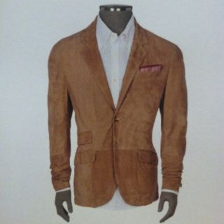 Brunello Cucinelli Mens Suede Jacket Blazer Sports Coat Size Large in