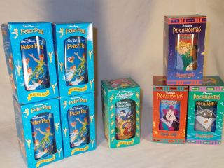 Lot of 8 Burger King Disney cups glasses Peter Pan Snow White