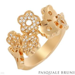 Pasquale Bruni Ring 27 Ct Diamonds 18K Rose Gold New T