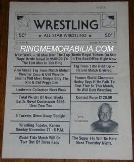 Bruno Sammartino Farewell Wrestling Program 1981 Signed by Mil