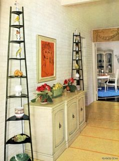 1960 FREEDOM IN INTERIOR DECORATION Old School & Mid Century Modern