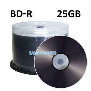 50 4x 25GB BD R Blue Blu ray Blank Media disc discs Logo Top NEW