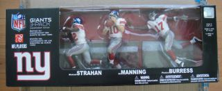 McFarlane N Y Giants 3 Pack Strahan Manning Burress