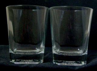 Buchanans de Luxe Whisky Tumbler Glasses Pair Collectibles