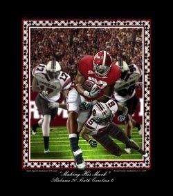Alabama Football Mark Ingram Making His Mark Print