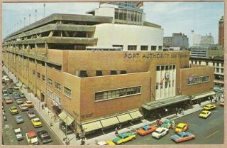 NY Port Authority Bus Terminal New York 1964 Postcard