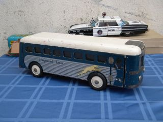 RARE 1940s War Time Buddy L Wooden Greyhound Lines Bus Toy Very Clean