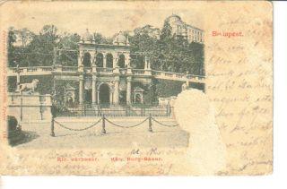 Budapest Hungary Kir Varbazar Burg Bazar Postcard