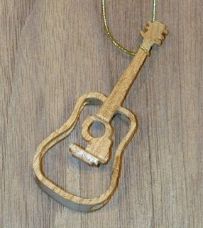 Handmade Butternut Guitar Ornament Unique 1 for 2010