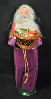 Byers Choice The Carolers 1991 Father Christmas Santa Claus w Basket