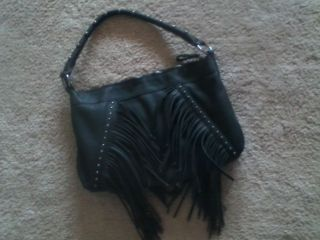 Buffalo David Bitton Medium Size Black Fringe Handbag