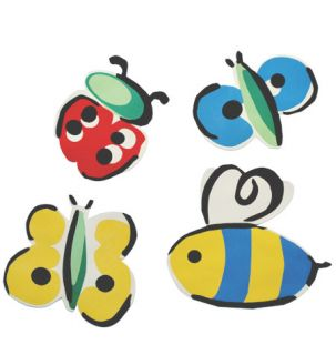 Bumble Bees Lady Bugs Butterflies Butterfly 25 Bug Wallies Wall