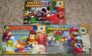 Mario Kart 64 Diddy Kong Racing Mickeys Speedway Complete Nintendo 64