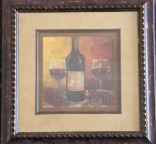 cabernet WINE bottle glasses PICTURE wall hanging decor decoration