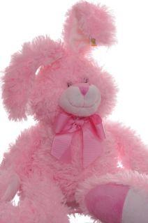 Bunny Stuffed Animal Girls Toy Pink Rabbit Soft Cuddly Baby Shower