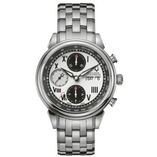 New Mens Bulova Accutron Gemini 63C008 Watch Chrono