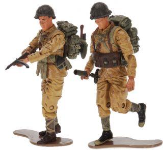 WWII Japanese NLF Marines Pvt. Ekiguchi & Pvt. Yamato Two 118 Scale
